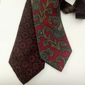 2 men's Pierre Balmain ties patterned Paisley tie